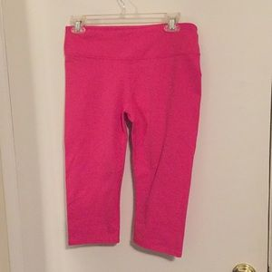 Pink cropped workout pants